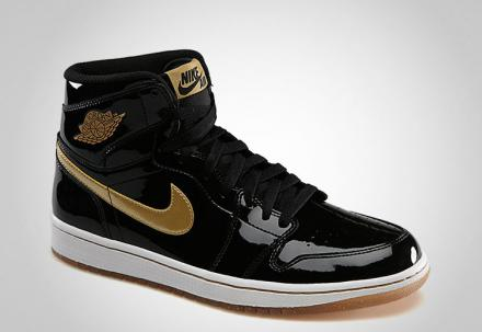 NIKE AIR JORDAN 1 RETRO HIGH OG BLACK/METALLIC GOLD?WHITE