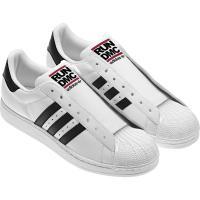 RUN DMC × アディダス オリジナルス スーパースター 80'S ホワイト/ブラック/ライト スカーレット