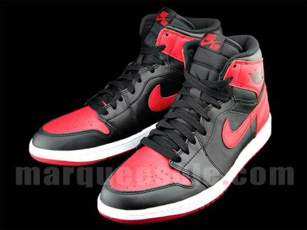 NIKE AIR JORDAN 1 RETRO HI OG BLACK/VARSITY RED-WHITE