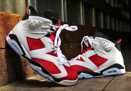 NIKE AIR JORDAN VI RETRO WHITE/CARMINE RED-BLACK