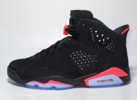 NIKE AIR JORDAN 6 RETRO BLACK/INFRARED