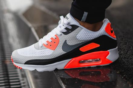 NIKE AIR MAX 90 ULTRA ESSENTIAL WHITE/GOOL GREY-INFRARED