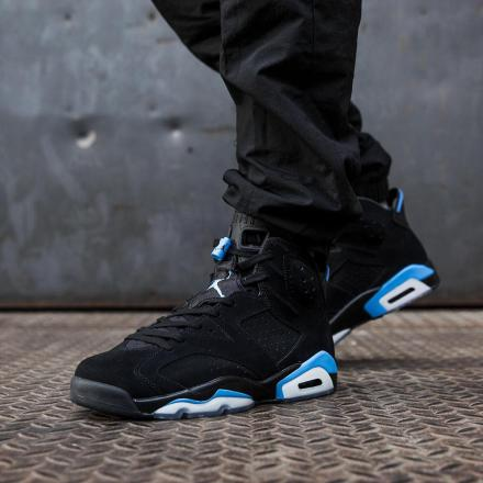 NIKE AIR JORDAN 6 RETRO BLACK/UNIVERSITY BLUE