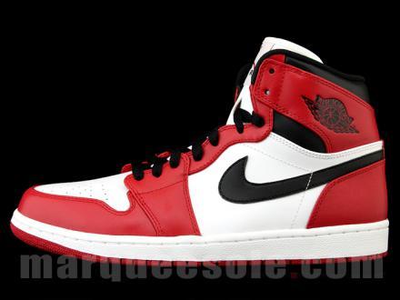 NIKE AIR JORDAN 1 HIGH WHITE/VARSITY RED-BLACK