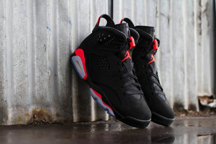 【2位】 NIKE AIR JORDAN 6 RETRO BLACK/INFRARED23