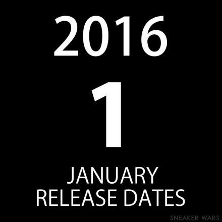 2016年1月発売予定のスニーカーまとめ