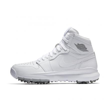 ナイキ エア ジョーダン 1 ハイ ゴルフ ホワイト/メタリックシルバー/ホワイト